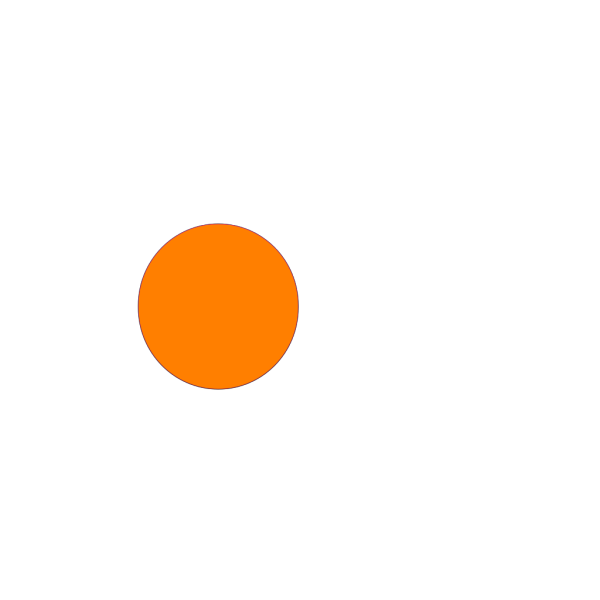 Glossy Orange Circle Button PNG Clip art