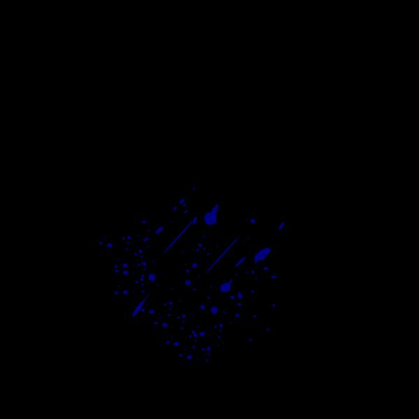 Blue Splitter Splatter PNG Clip art