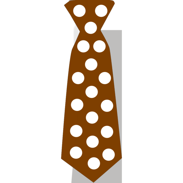 Brown Tie With Polka Dots PNG Clip art