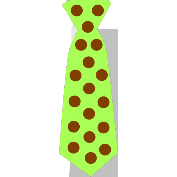 Green Tie With Brown Polka Dots PNG Clip art