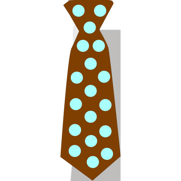 Brown Tie With Blue Polka Dots PNG Clip art