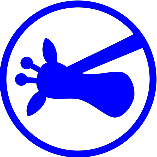 Blue Giraffe On Side PNG Clip art
