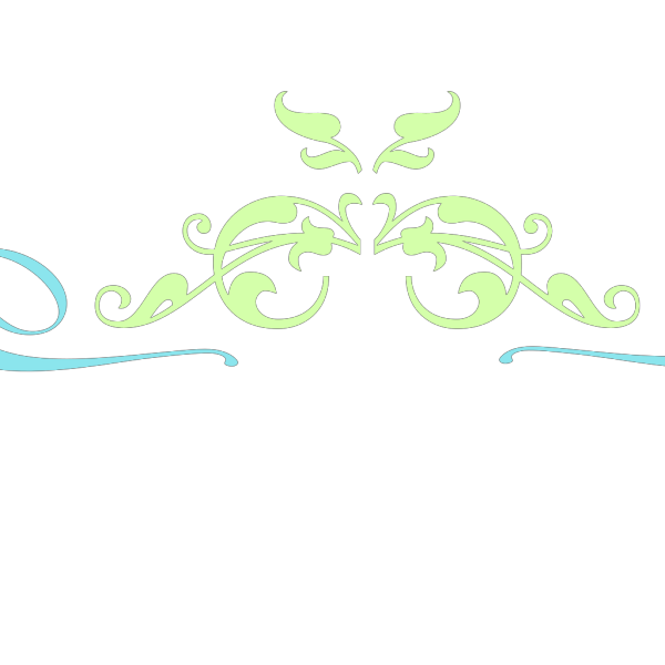 Blue Vintage Swirl PNG Clip art