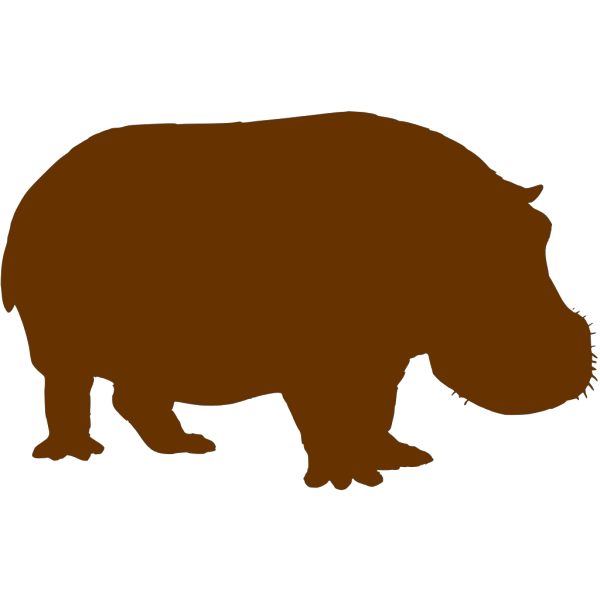 Brown Hippo PNG Clip art