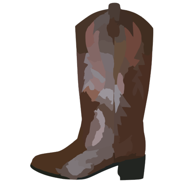 Adult Brown Cowboy Boots Reverse PNG images