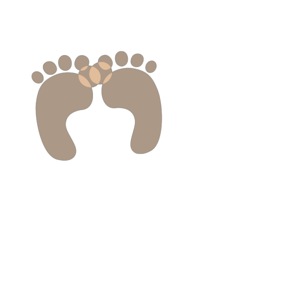 Baby Feet - Brown PNG images