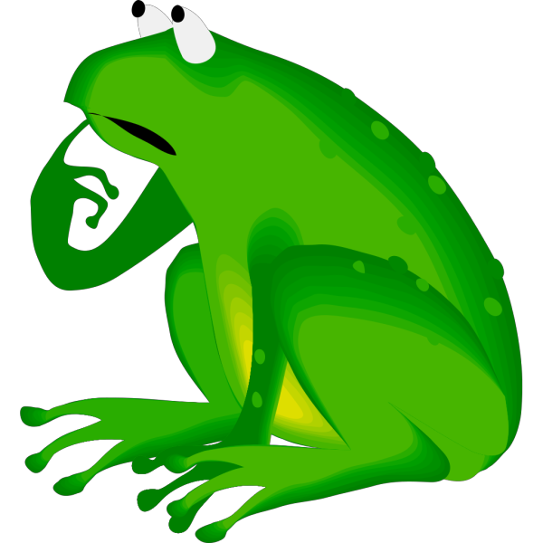 Forgetful Frog PNG Clip art