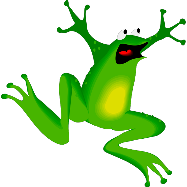 Panicky Frog PNG Clip art