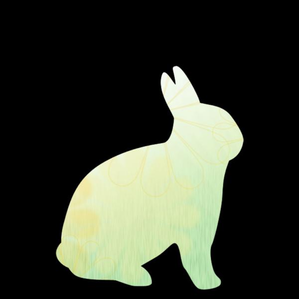 Rabbit Green Design PNG Clip art