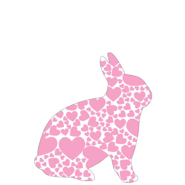 Rabbit With Hearts PNG Clip art