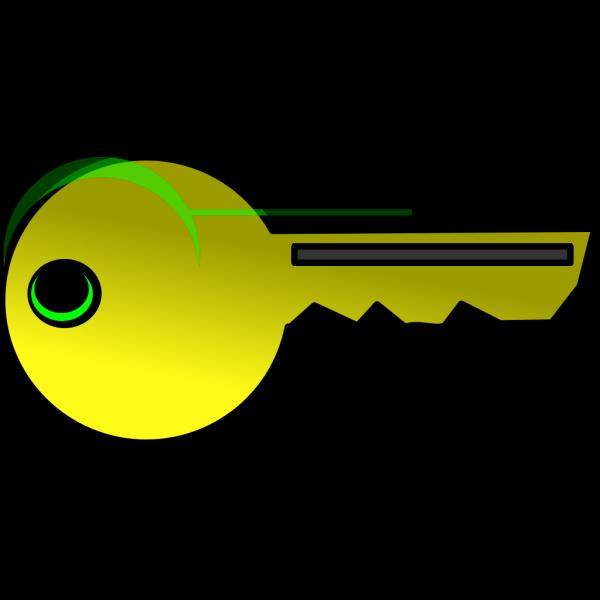 Yello & Green Key PNG Clip art