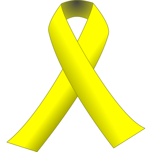 Yellow Ribbon W/black Background PNG Clip art