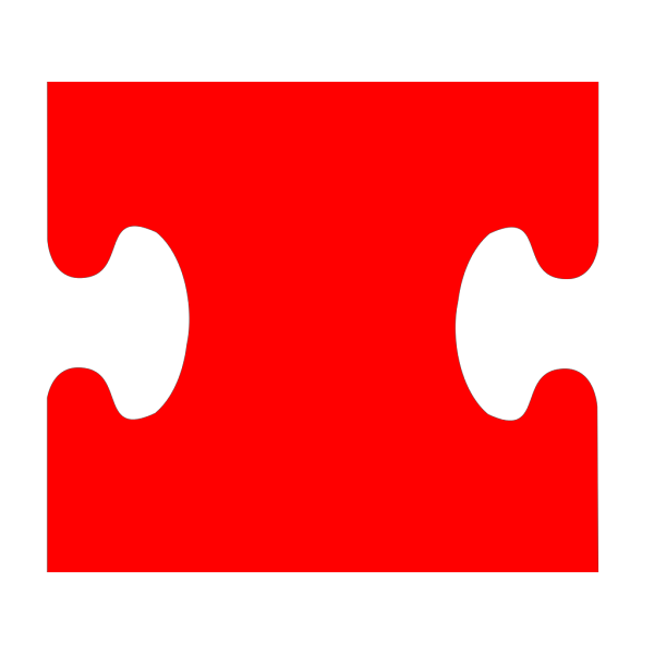 Puzzle Piece Red PNG Clip art