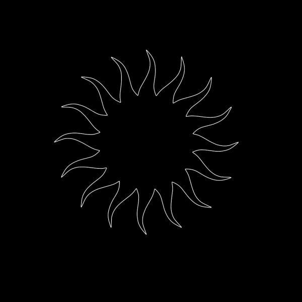 Sun Star Bw PNG Clip art