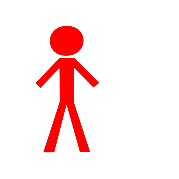 Red Man Black Face PNG Clip art