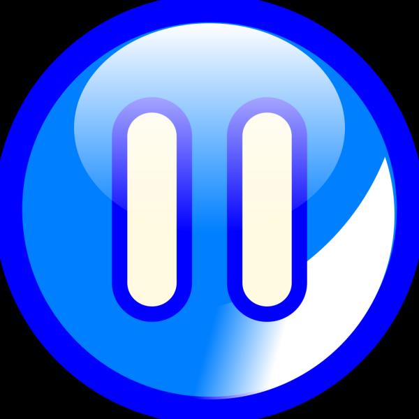 Pause Button Blue PNG images