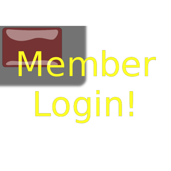 Red Rectangle Member Login Button PNG Clip art