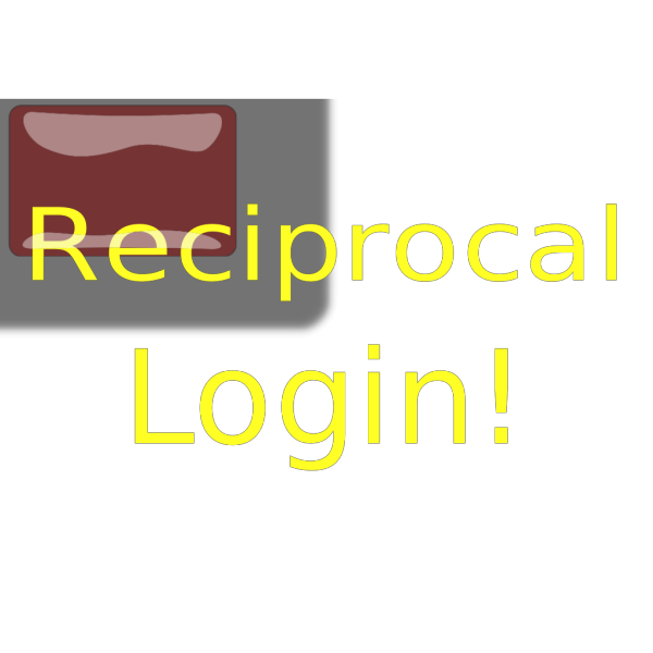 Red Rectangle Reciprocal Login Button PNG Clip art
