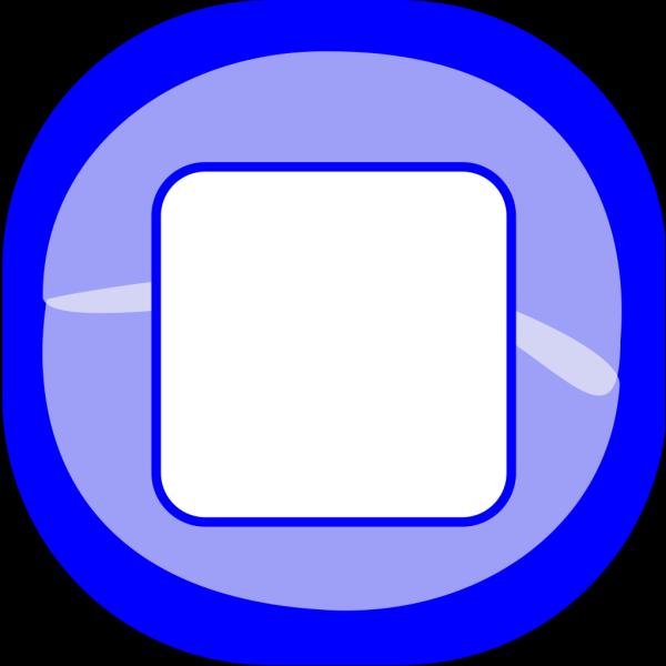 Stop Blue Button PNG Clip art