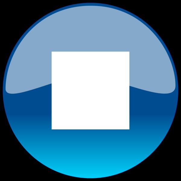 Blue Stop Button PNG Clip art