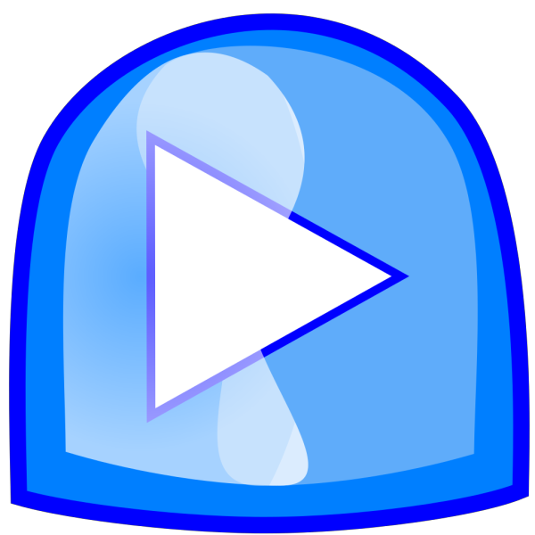 Blue Play Button PNG icons