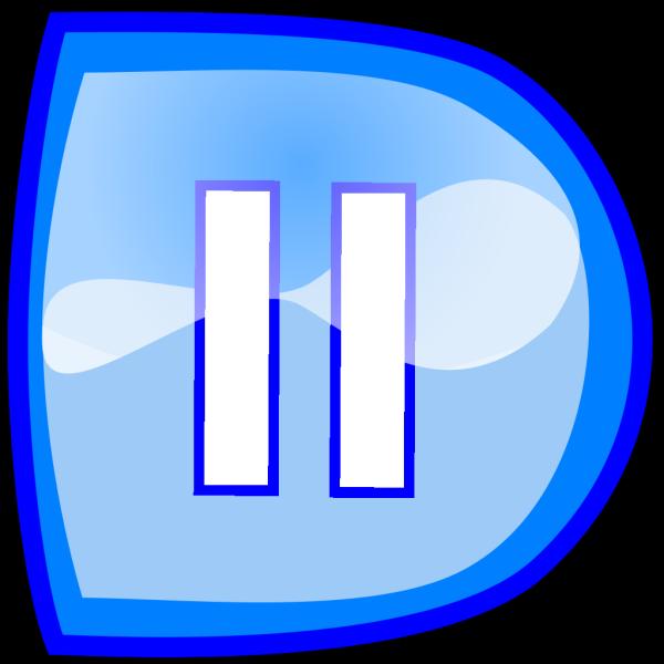 Blue Pause Button PNG Clip art
