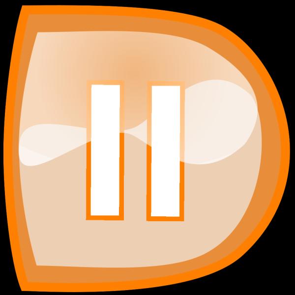 Orange Pause Button PNG Clip art