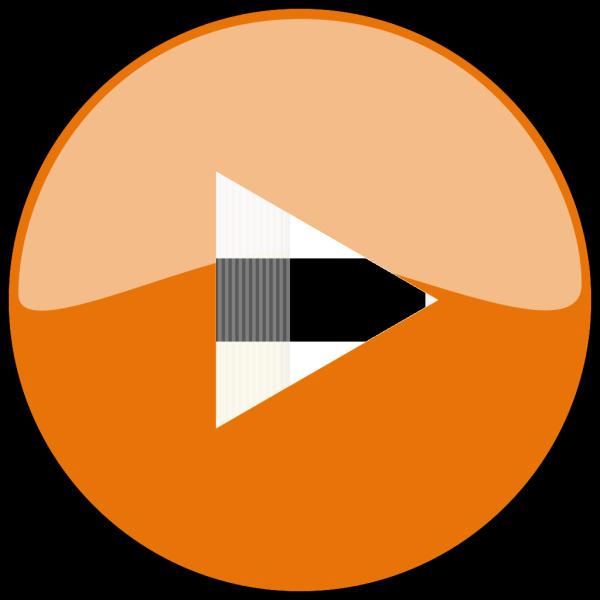 Orange Play Button PNG Clip art