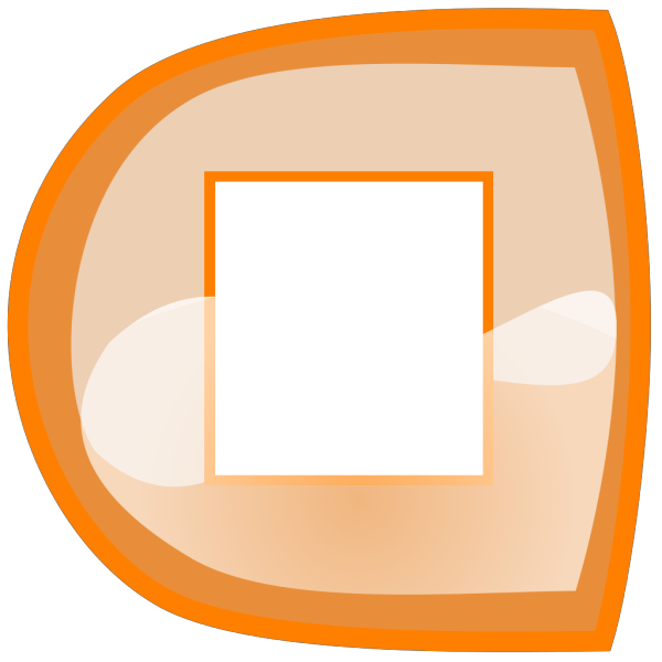 Orange Stop Button PNG Clip art