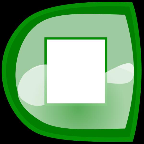 Green Stop Button PNG Clip art
