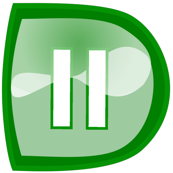 Green Pause Button PNG Clip art