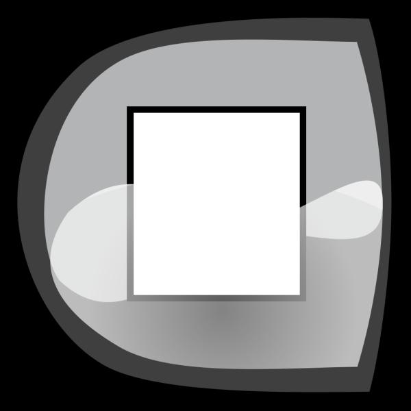 Black Stop Button PNG Clip art
