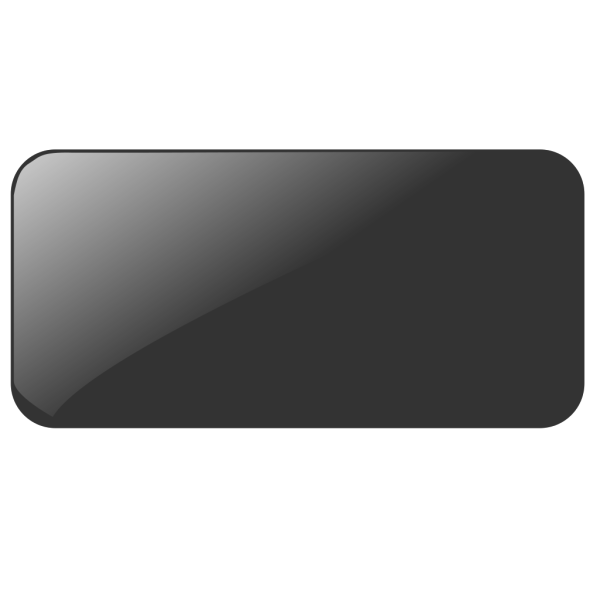 Blank Black Button PNG Clip art