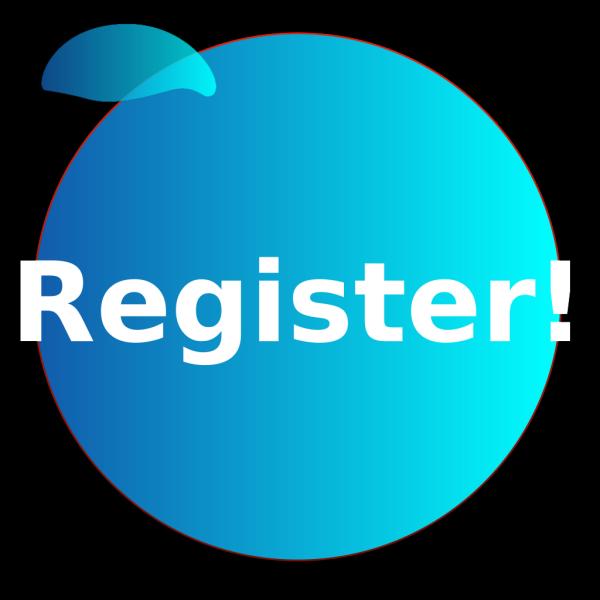 Registerbuttonbluev2 PNG Clip art