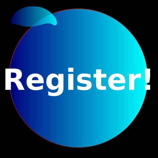 Registerbuttonbluev3 PNG Clip art