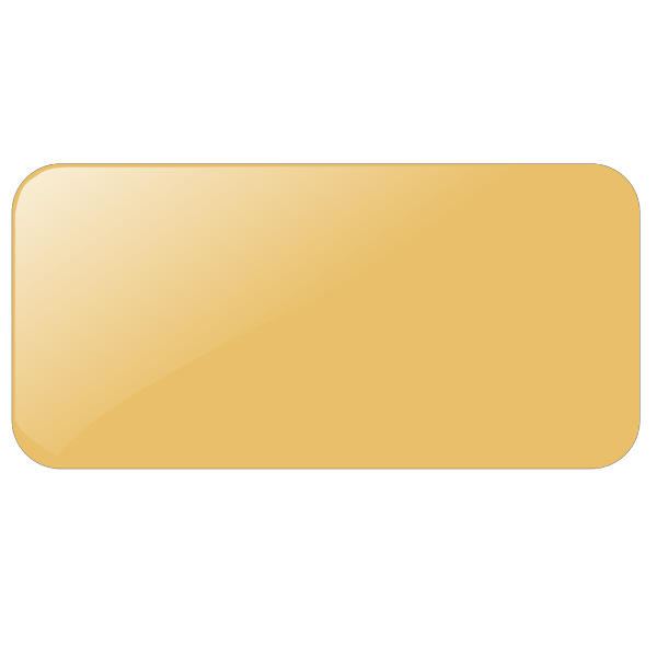 Kw Gold Rectangle Button Panel PNG Clip art
