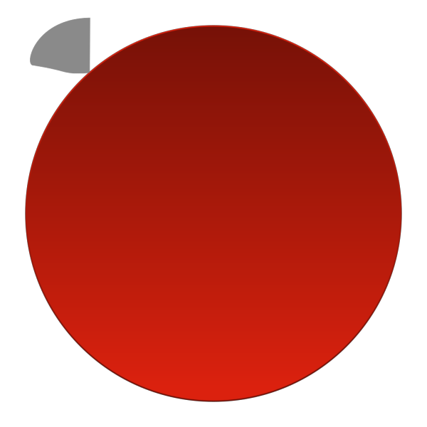Red Inactivate Button PNG Clip art