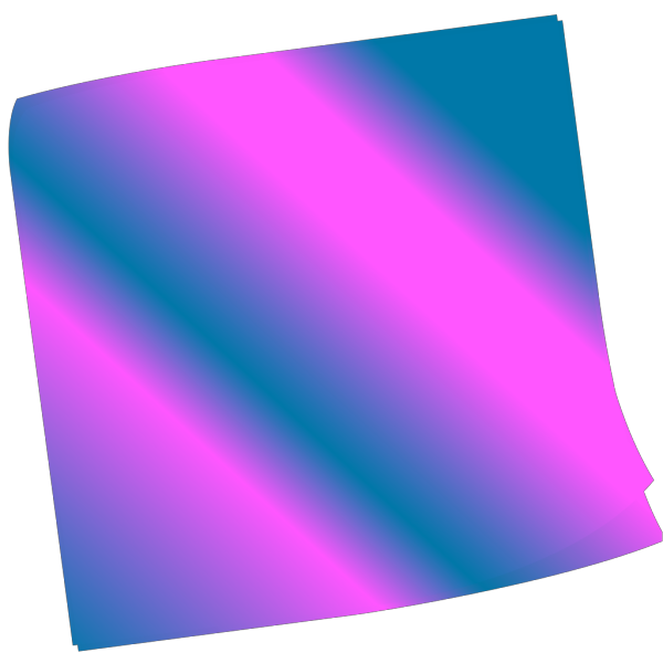 Shaded Blue Pinkn Sticky Note PNG Clip art
