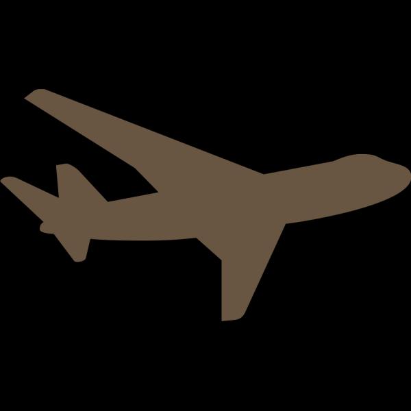 Brown Plane PNG Clip art