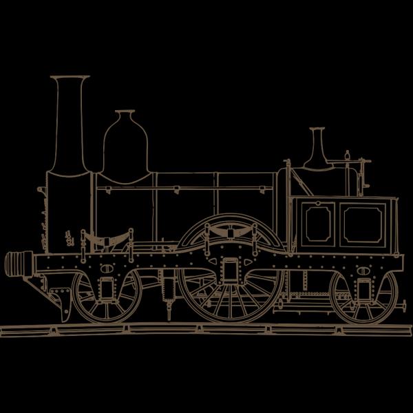 Brown Train PNG Clip art