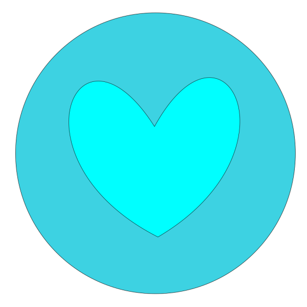 Heart In Circle Blue PNG Clip art