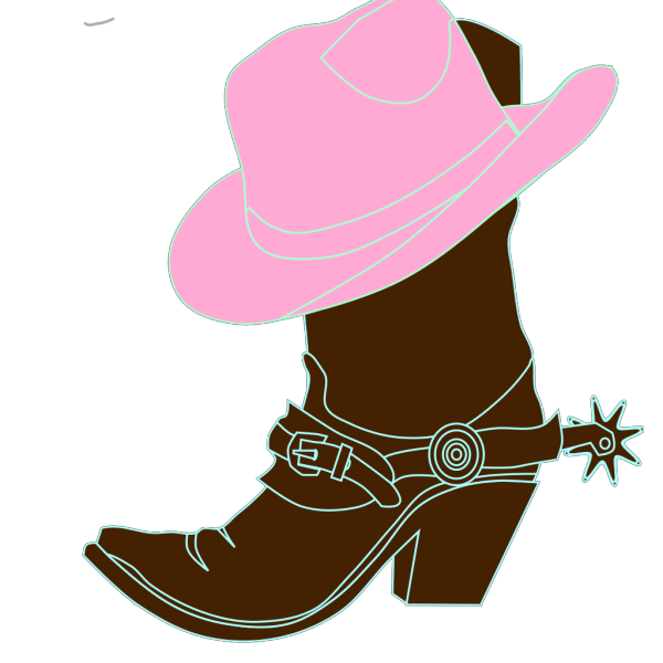 Cowgirl Hat And Boot PNG images