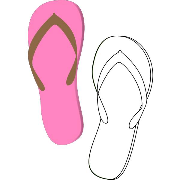 Flip Flops Pink PNG icon