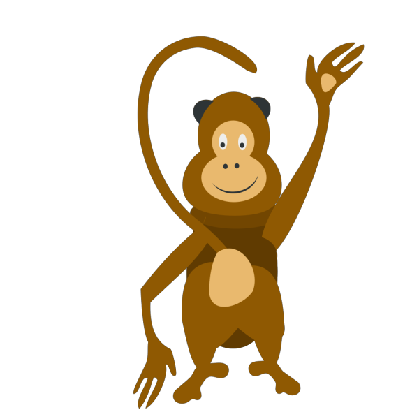 Monkey Waving Clip art