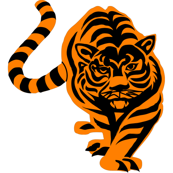 Prowling Tiger PNG Clip art