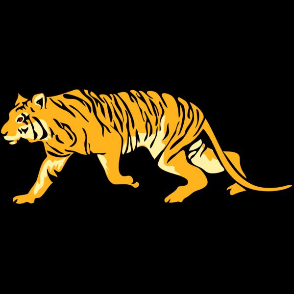 Stalking Tiger PNG Clip art