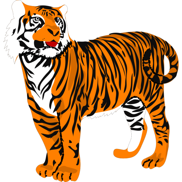Standing Tiger PNG Clip art