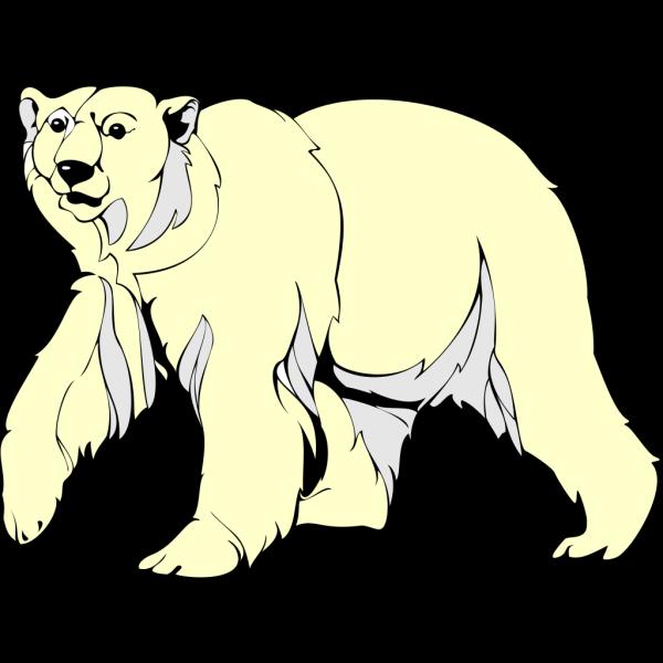 Furry Walking Polar Bear PNG Clip art