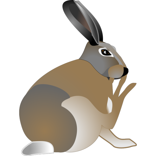 Itchy Rabbit PNG Clip art