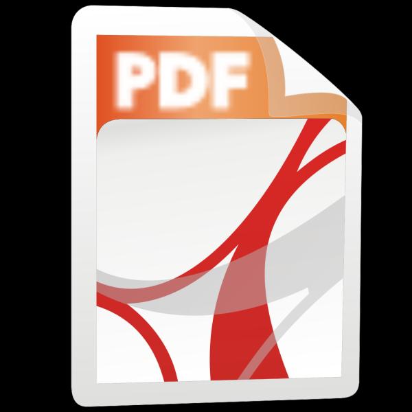 Pdf Icon Stylized PNG Clip art